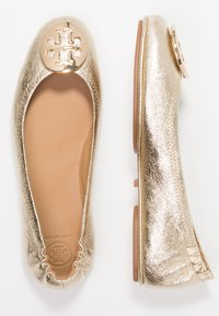 Tory Burch - MINNIE TRAVEL BALLET  - Ballet pumps - spark gold - 3