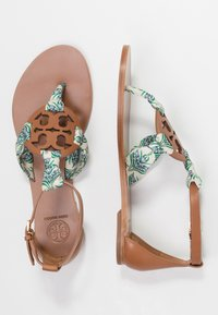 Tory Burch - MILLER  - Infradito - tan /blue meridian - 3