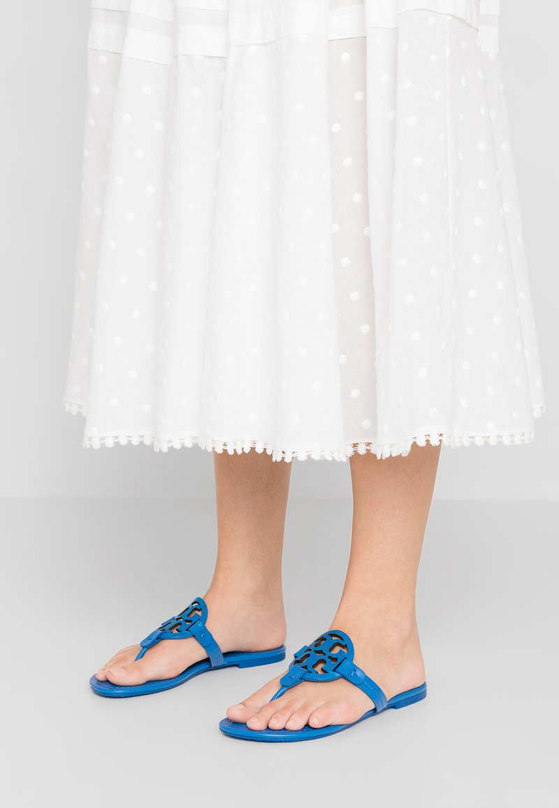 Tory Burch - MILLER - T-bar sandals - bright tropical blue/bright tropical