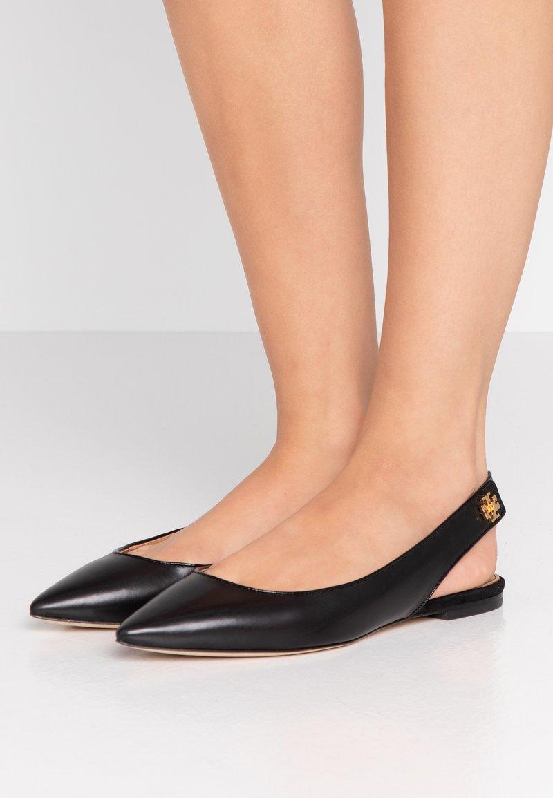 Tory Burch - KIRA SLINGBACK FLAT - Slingback ballet pumps - perfect black