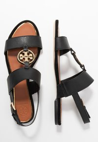Tory Burch - METAL MILER TWO BAND  - Sandály - perfect black/gold - 3