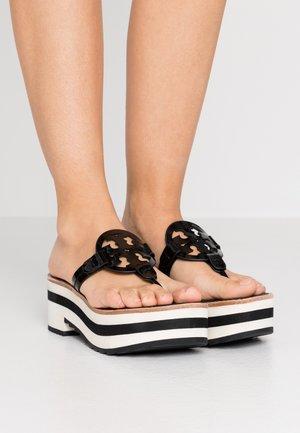 MILLER PLATFORM  - Sandalias de dedo - perfect black