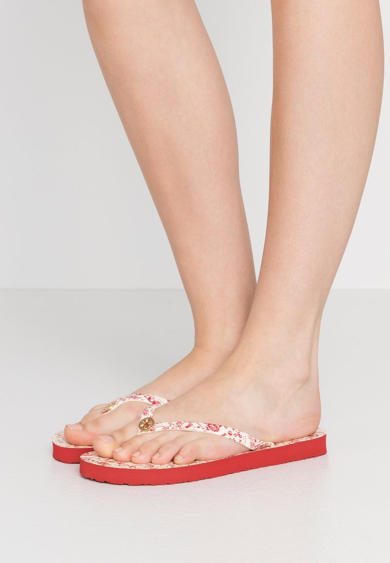 Tory Burch - PRINTED THIN - Boty do bazénu - red