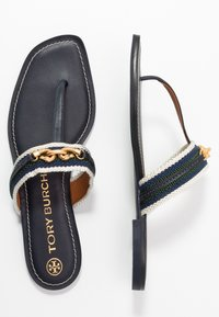 Tory Burch - JESSA THONG  - Infradito - perfect navy /banyan green/multicolor - 1