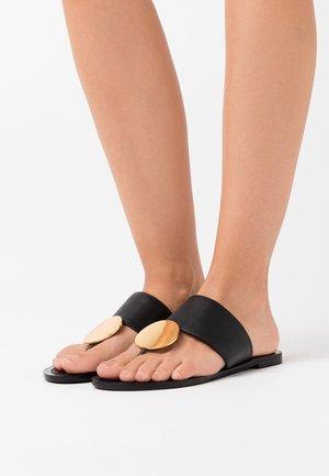PATOS DISK - T-bar sandals - black