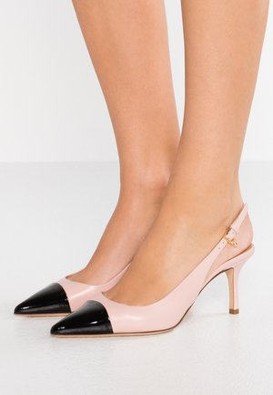 PENELOPE CAP TOE SLINGBACK  - Classic heels - sea shell pink/perfect black