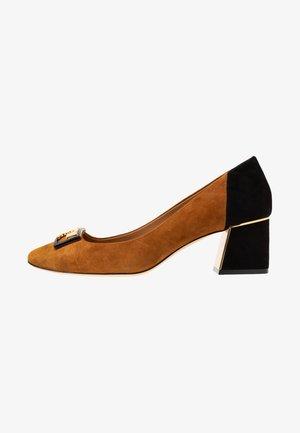GIGI ROUND TOE  - Escarpins - dark tiramisu/perfect black