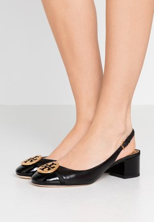 MINNIE CAP-TOE SLINGBACK - Klassiske pumps - perfect black