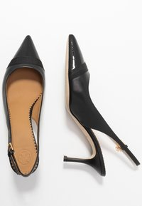 Tory Burch - PENELOPE CAP TOE SLINGBACK - Escarpins - perfect black - 3