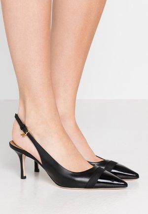 PENELOPE CAP TOE SLINGBACK - Classic heels - perfect black