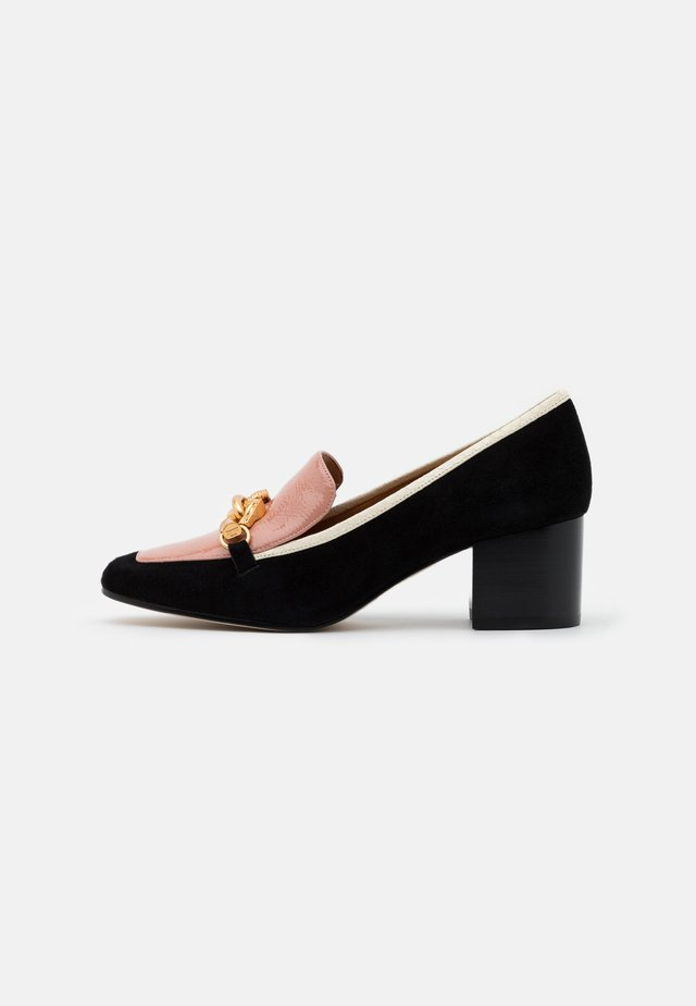 JESSA - Classic heels - perfect black/pink moon/new ivory