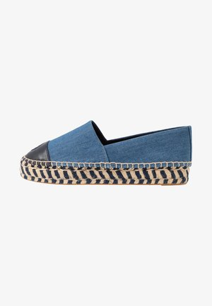 COLOR BLOCK PLATFORM - Espadryle - denim/perfect navy