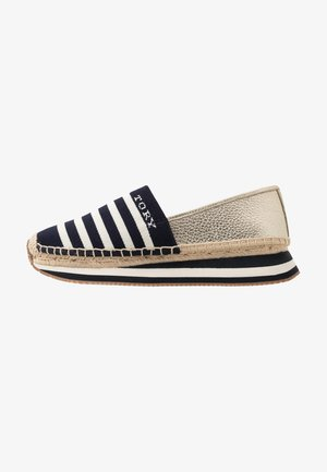 DAISY TRAINER - Espadrillos - midnight/new ivory/sparkling gold
