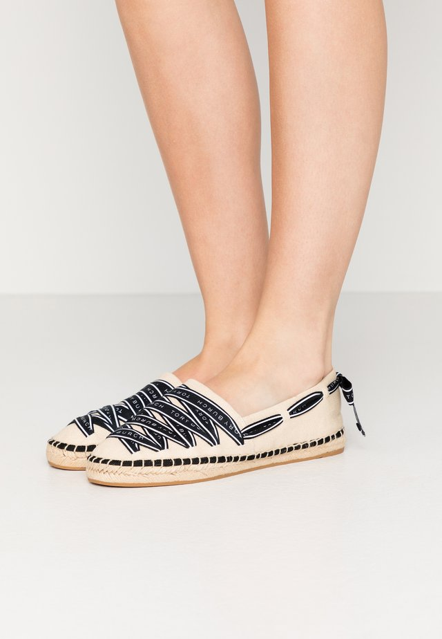LOGO GROSGRAIN - Espadrille - cream/perfect black