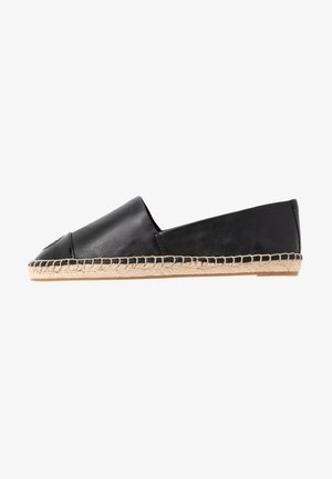 COLOR BLOCK FLAT - Espadryle - perfect black