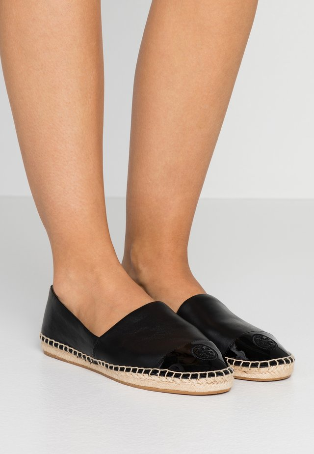 COLOR BLOCK FLAT - Espadrilles - perfect black