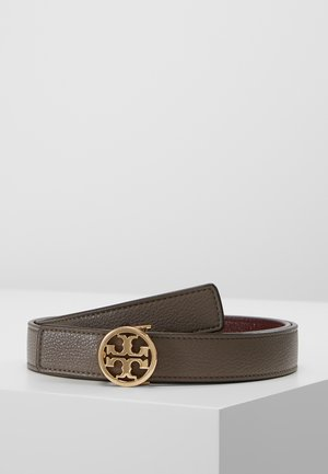 REVERSIBLE LOGO BELT - Pasek - silver maple/claret