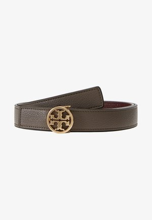 REVERSIBLE LOGO BELT - Pásek - silver maple/claret