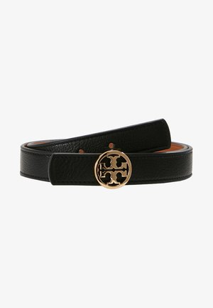 REVERSIBLE LOGO BELT - Cintura - black/saddle
