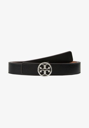 REVERSIBLE LOGO BELT - Riem - black/silver-coloured