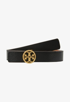 REVERSIBLE LOGO BELT - Cintura - black/gold-coloured