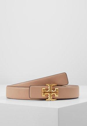 KIRA LOGO BELT - Pasek - devon sand/gold-coloured