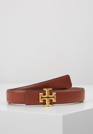 KIRA LOGO BELT - Pásek - spiced rum/gold-coloured