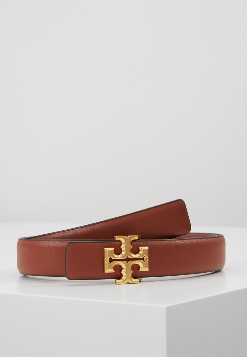 Tory Burch - KIRA LOGO BELT - Belt - spiced rum/gold-coloured