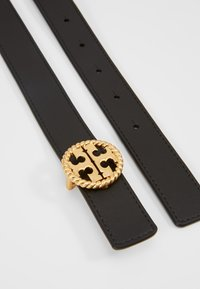 Tory Burch - TWISTED LOGO BELT - Vyö - black - 2