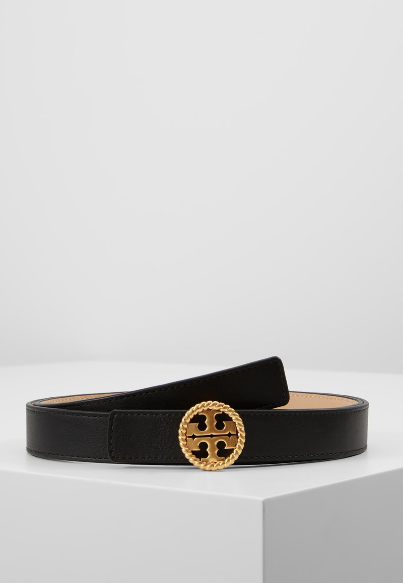 Tory Burch - TWISTED LOGO BELT - Belt - black