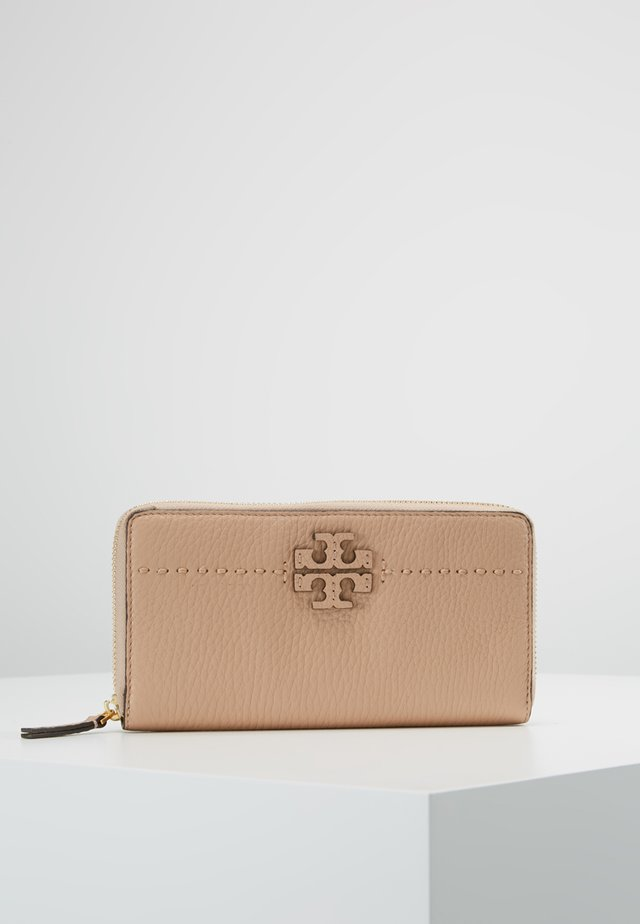 MCGRAW ZIP CONTINENTAL WALLET - Portemonnee - devon sand
