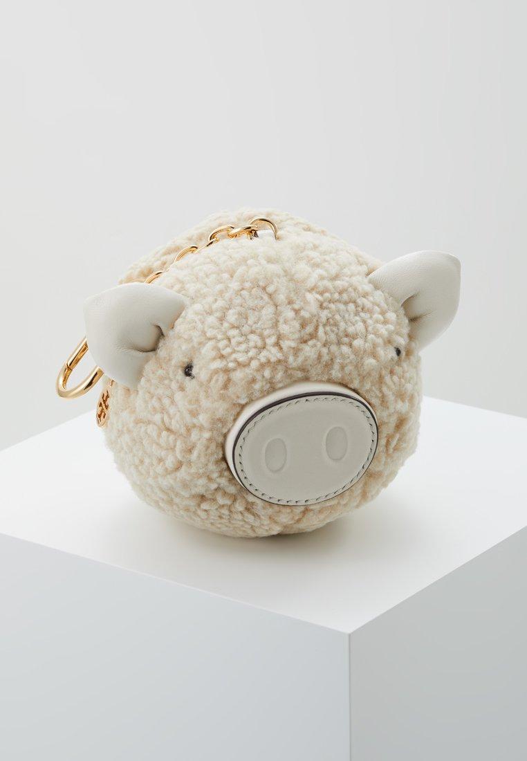 Tory Burch - SHEARLING PIG POM POM KEY FOB - Schlüsselanhänger - natural