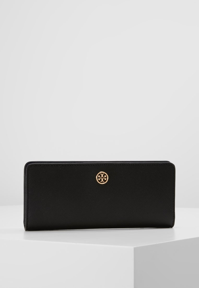 Tory Burch - ROBINSON SLIM WALLET - Portfel - black
