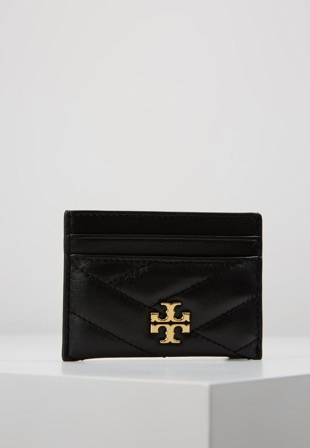 KIRA CHEVRON CARD CASE - Visitkortetuier - black/gold