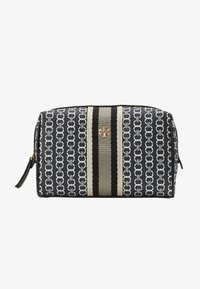 Tory Burch - GEMINI LINK SMALL COSMETIC CASE - Wash bag - black - 1