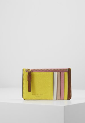 PERRY COLOR BLOCK TOP ZIP CARD CASE - Wallet - goan sand/electric yellow/pink city