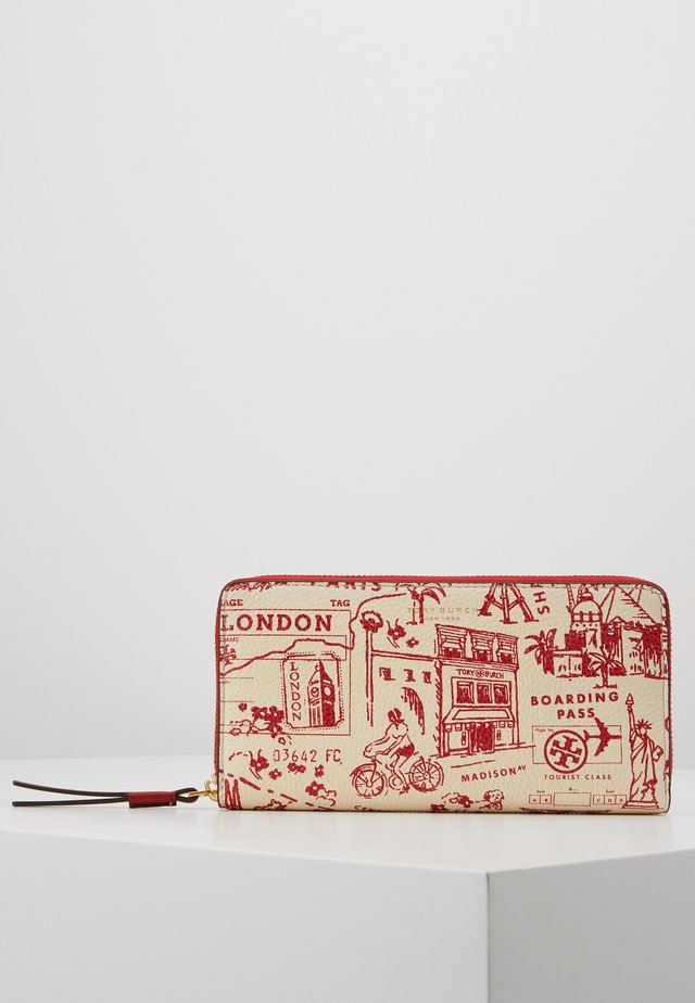 PERRY PRINTED ZIP CONTINENTAL WALLET - Wallet - red destination