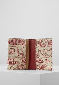 Tory Burch - PERRY PRINTED PASSPORT CASE - Passport holder - red destination - 4