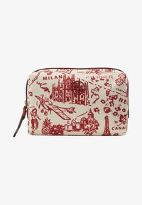 Tory Burch - PERRY PRINTED SMALL COSMETIC CASE - Trousse - red - 1
