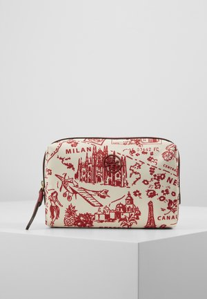 PERRY PRINTED SMALL COSMETIC CASE - Kosmetiktasche - red