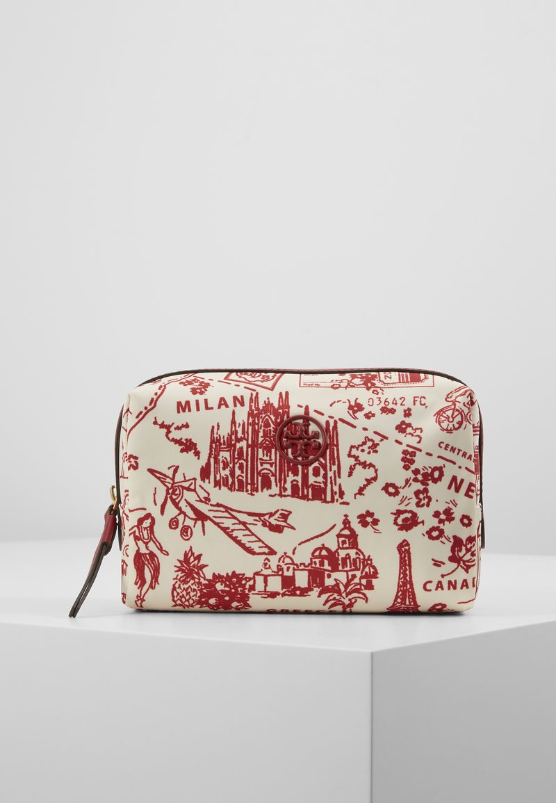 Tory Burch - PERRY PRINTED SMALL COSMETIC CASE - Trousse - red