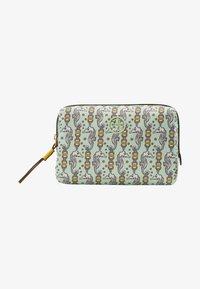 Tory Burch - PERRY PRINTED SMALL COSMETIC CASE - Trousse - green - 1