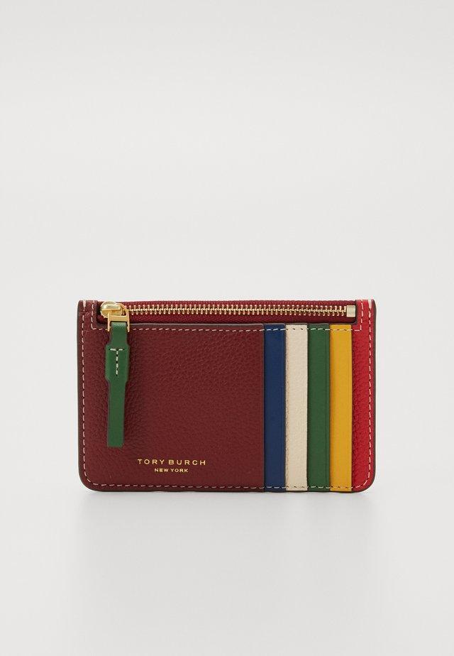 PERRY COLORBLOCK CARD CASE - Peněženka - tinto/new cream