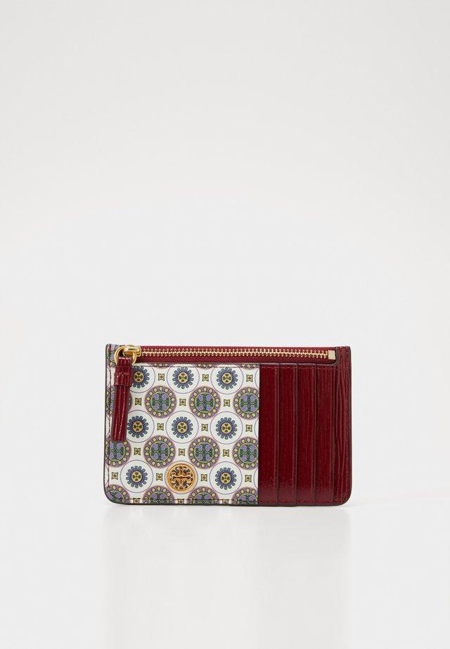 ROBINSON BATIK PRINT TOP ZIP CARD CASE - Peněženka - ivory