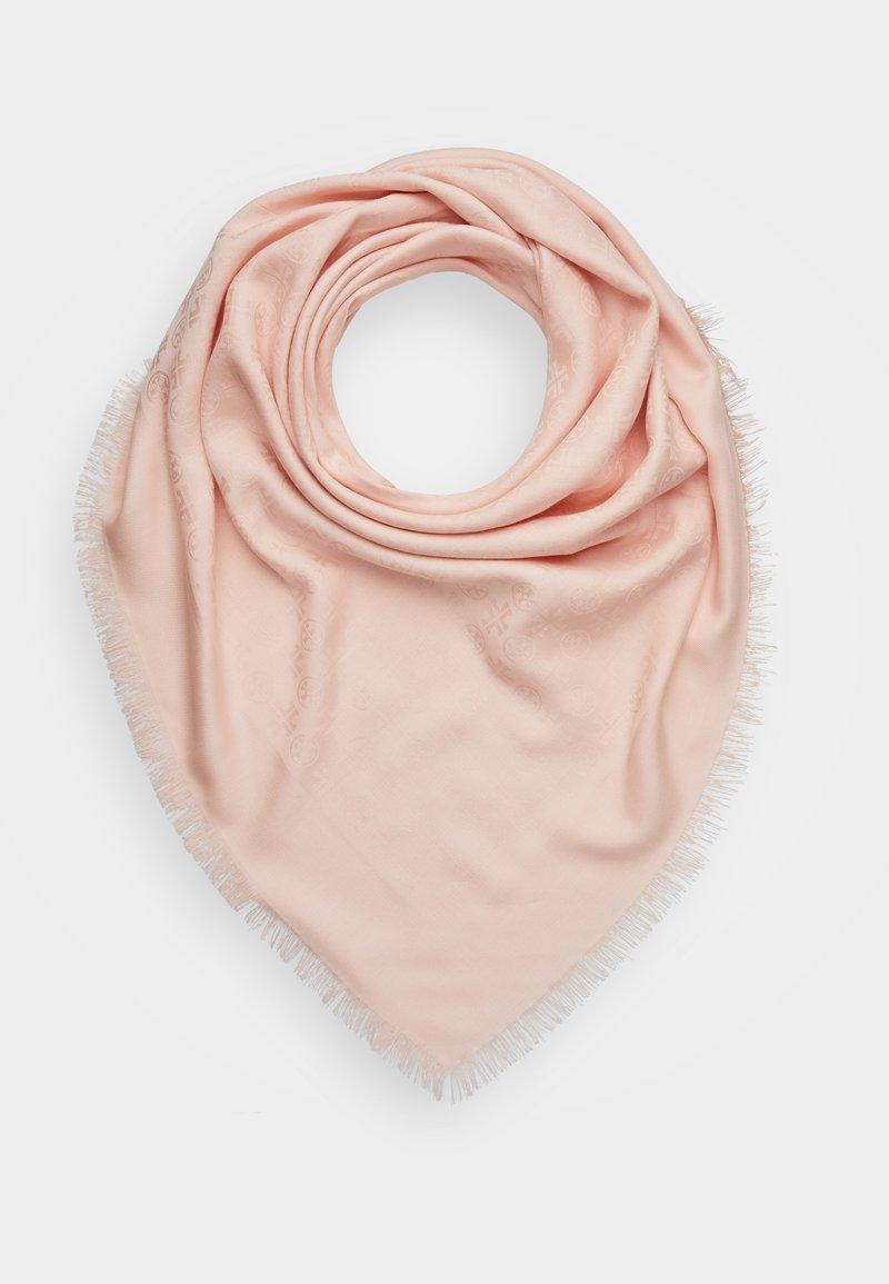Tory Burch - LOGO TRAVELER SCARF - Foulard - sea shell pink