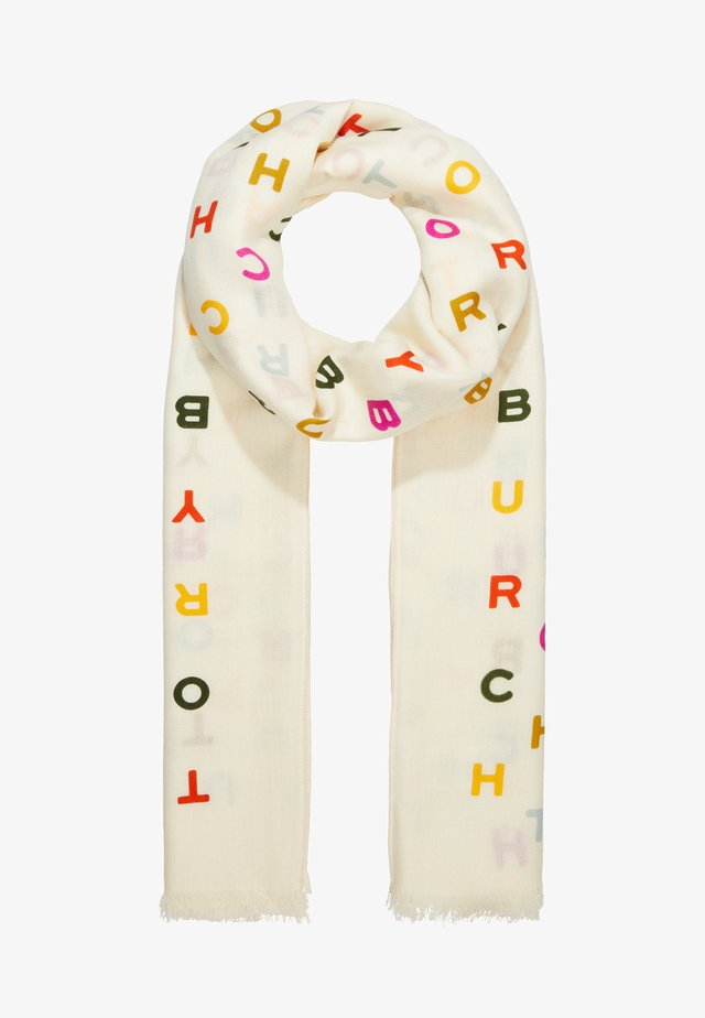 TORY TEXT LONG SCARF - Schal - new ivory