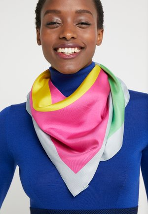 COLOR BLOCK LOGO SQUARE SCARF - Foulard - seltzer