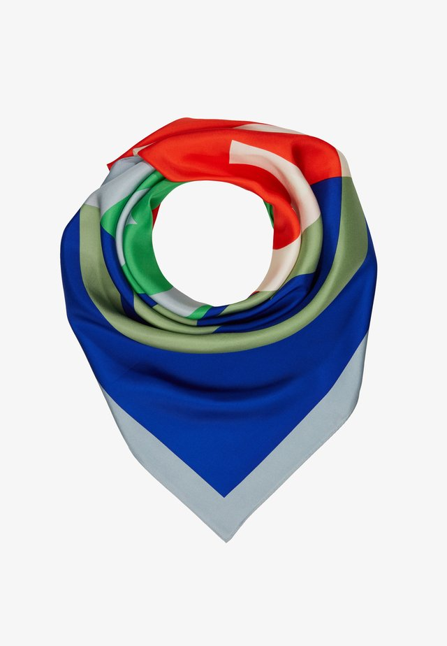 COLOR BLOCK LOGO SQUARE SCARF - Tuch - seltzer