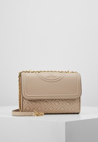 Tory Burch - FLEMING SMALL CONVERTIBLE SHOULDER BAG - Borsa a tracolla - light taupe - 0