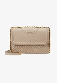 Tory Burch - FLEMING SMALL CONVERTIBLE SHOULDER BAG - Across body bag - light taupe - 5